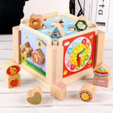 Wooden Multifunctional Shape Matching Sorter Blocks