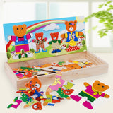 Bear Wooden Puzzle Set