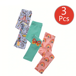 Girl's 3pcs Printed leggings