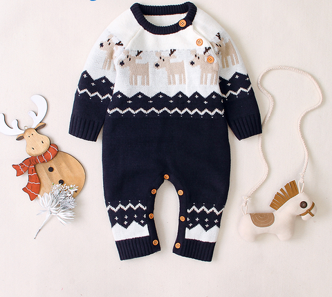 Baby Knitted Christmas Romper