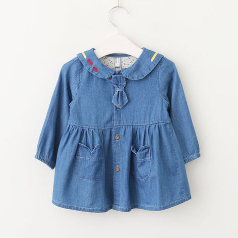 Emma Denim Doll Collar Dress