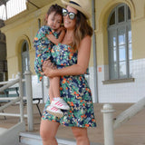 Mommy and me ruffle sleeve dress