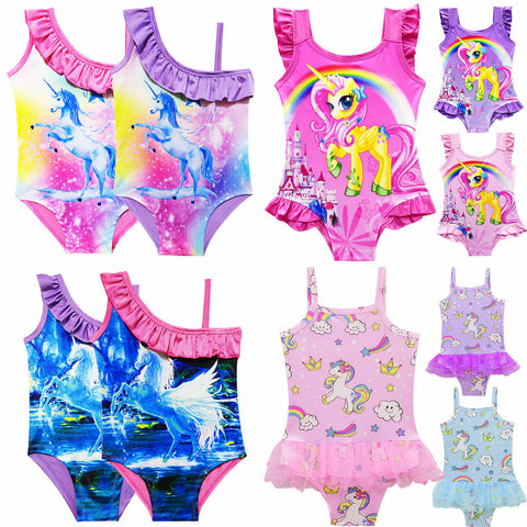 Girls Unicorn Swimsuit