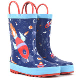 Boys Rocket ship Rain boots