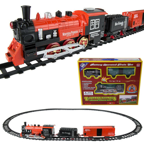 Electric Train Track Set with Light Sound