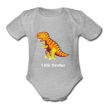 Little Brother Organic Short Sleeve Baby Bodysuit - heather gray
