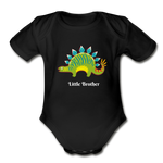 Little Brother Organic Short Sleeve Baby Bodysuit - black