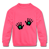 Girls Handprinted Sweatshirt - neon pink