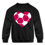 Girls Heart sweatshirt - black