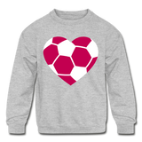Girls Heart sweatshirt - heather gray