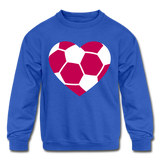 Girls Heart sweatshirt - royal blue