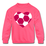 Girls Heart sweatshirt - neon pink