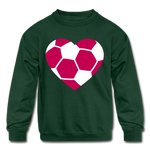 Girls Heart sweatshirt - forest green