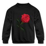 Rose Kids Sweatshirt - black