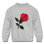 Rose Kids Sweatshirt - heather gray