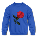 Rose Kids Sweatshirt - royal blue