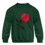 Rose Kids Sweatshirt - forest green