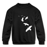 Birds Kids Sweatshirt - black