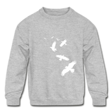 Birds Kids Sweatshirt - heather gray