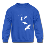 Birds Kids Sweatshirt - royal blue