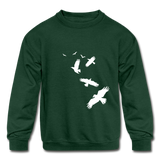 Birds Kids Sweatshirt - forest green