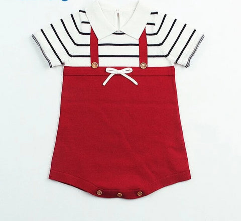 Baby Super Soft Knitted Holiday Romper