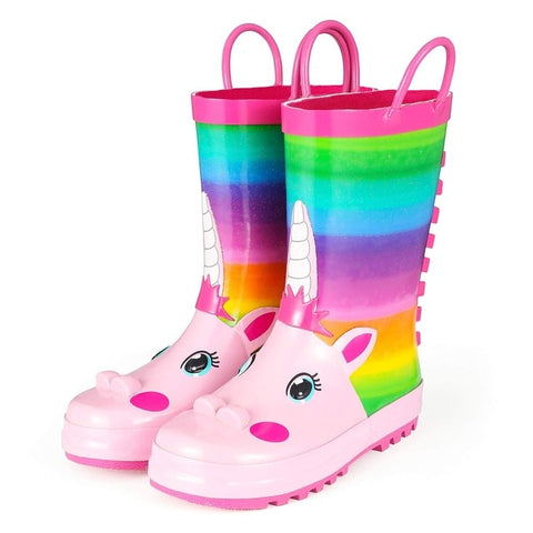 Children Rainbow Rain boots