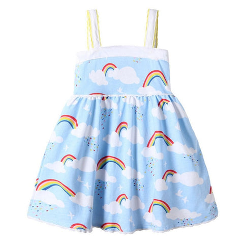 Clouds and Rainbows Little Girl Dress - Debbie's Kids Boutique