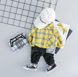 Baby Boy Plaid Shirt and Pants Set - Debbie's Kids Boutique