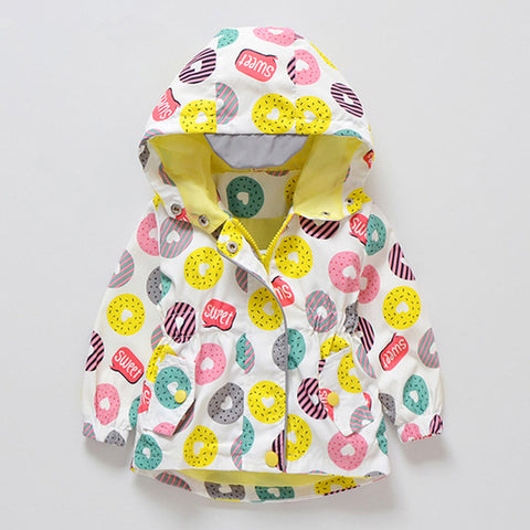 Donuts Printed Windbreaker