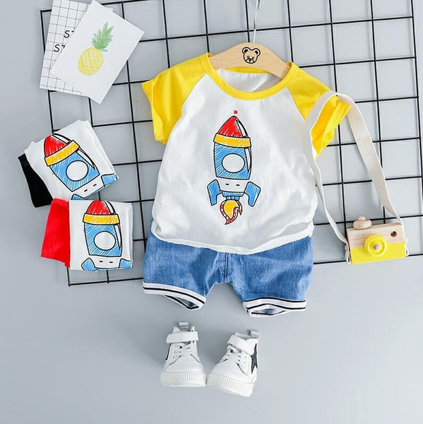 Little Astronaut Tee and shorts set