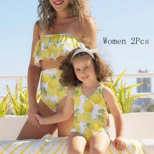 Mommy and Me lemon swimsuit