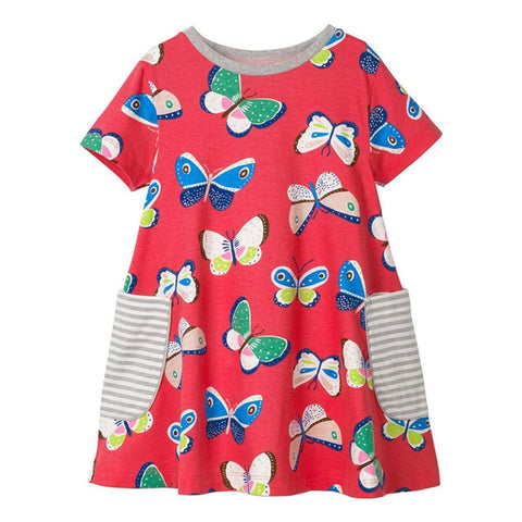 Pretty Butterfly Little Girl Dress