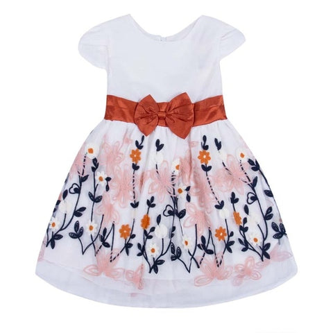 Toddler's Layered Bow Party dress