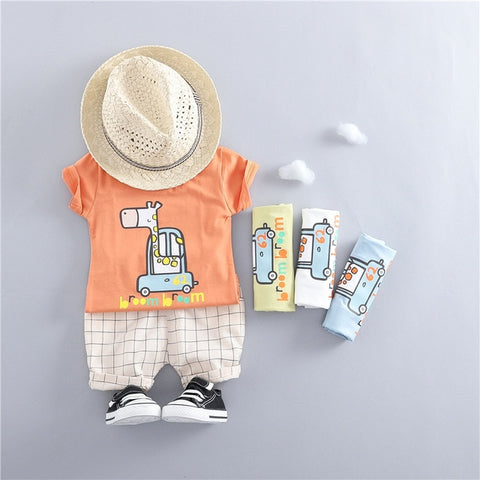 Baby Boy Drive by Tee and shorts set - Debbie's Kids Boutique