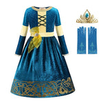 Pretty Merida Brave Birthday/Halloween Costume Dress