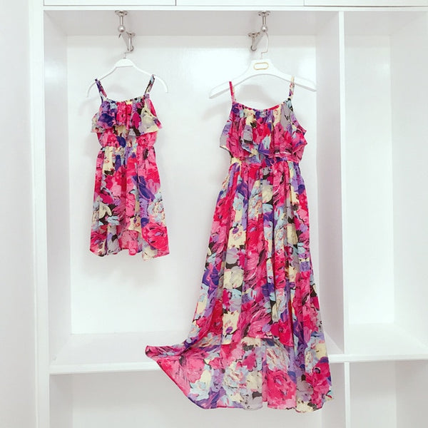 Mommy and Me Chiffon Beach Dresses