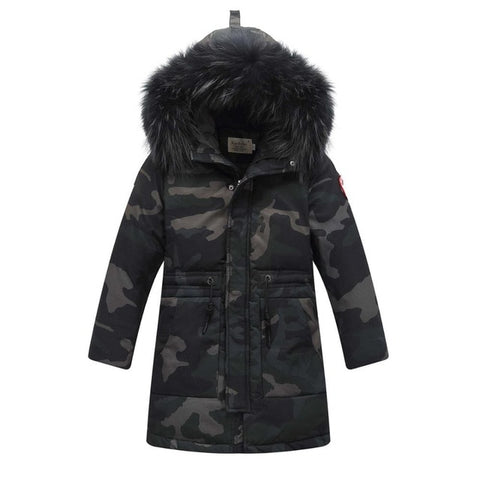 Children Winter Down Camouflage Jackets