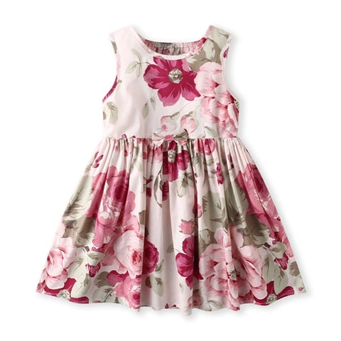 Little girl's Floral Printed Sundress