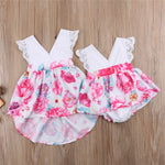 Little Sister/Big Sister Romper/dress - Debbie's Kids Boutique