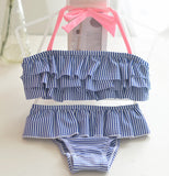 Girls Stripe two Piece Swimsuit