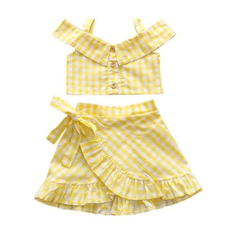 Little Girl Easter Plaid Outfit set