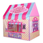 Little Girls and Boys Play Tent