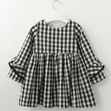 Toddler girls Petal Sleeve Plaid Dress