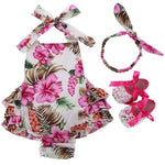Adorable Watermellon 3 pcs Romper Set - Debbie's Kids Boutique