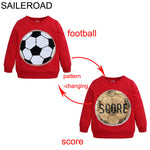 Boys Face changing Score Sweatshirts