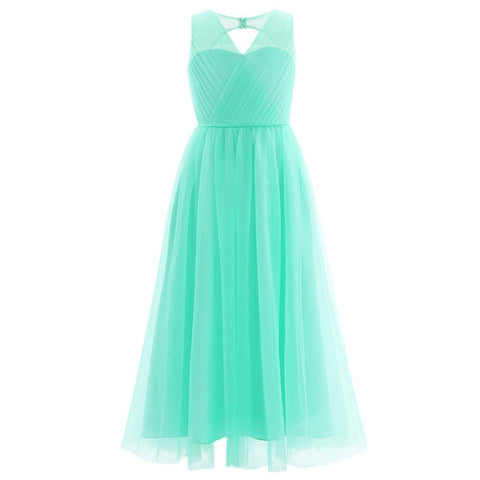 Flower Girl Splice Shoulder Straps Dress