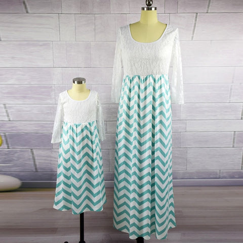 Mother and daughter Lace Maxi Beach Dress