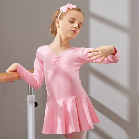 Girl's Long Sleeve Ballet Dresses
