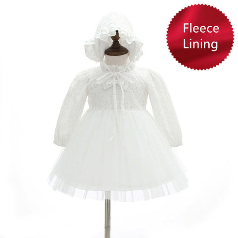 Baby Christening Dress with Fleece Lining - Debbie's Kids Boutique